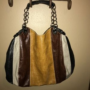 Nila Anthony Large Tote black, brown and gray